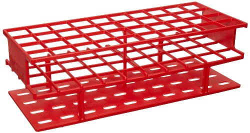 - Nalgene 5970-0525 Acetal Plastic Unwire Test Tube Rack for 25mm Test Tubes, Red