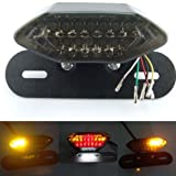 KLY 12V Smoke LED Motorcycle Turn Signal Brake License Plate Integrated Tail Light