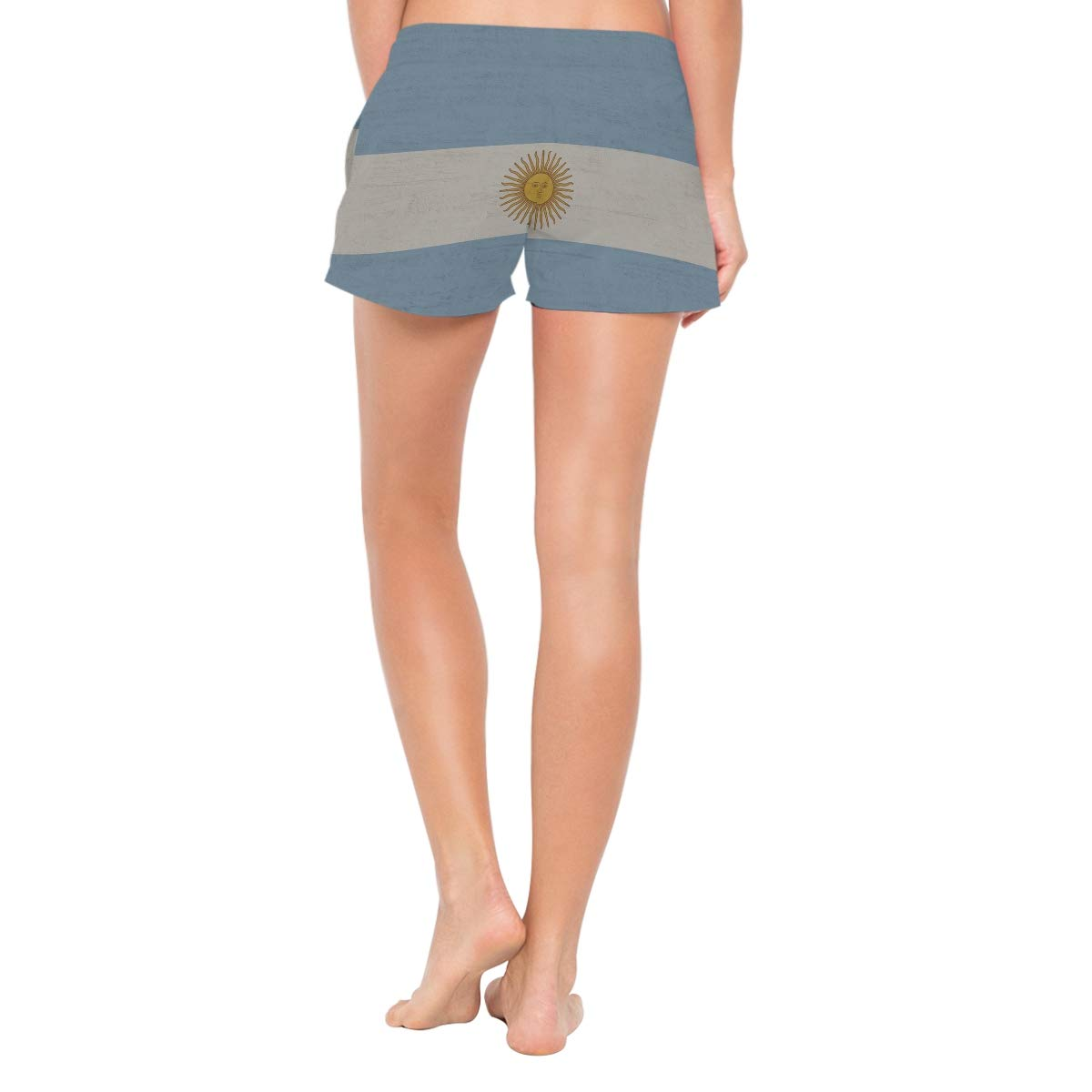 Flag of Argentina Womens Board Shorts Quick Dry Beach Swim Trunks