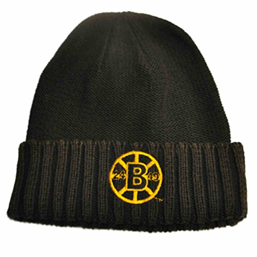 Boston Bruins Retro Brand Unisex Faded Black Cuffed Knit Beanie Hat ()