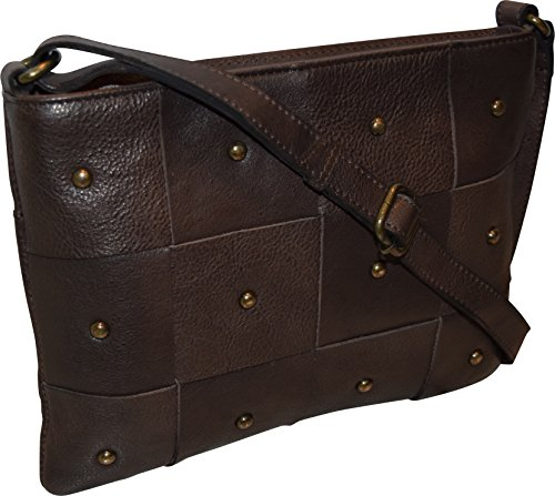 Zippered Women's Taylor Handbag Crossbody Leather Genuine Vintage Brown amp; Bag Paul wxYq11