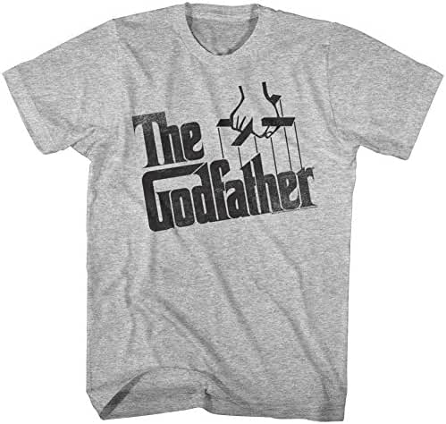 The Godfather Men's Distressed Logo T-Shirt Gray Heather 2XL