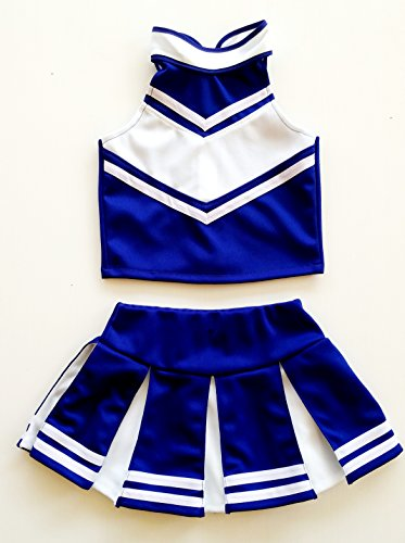 Cheerleader Outfit Girls For (Little Girls' Cheerleader Cheerleading Outfit Uniform Costume Cosplay Blue/White (S /)