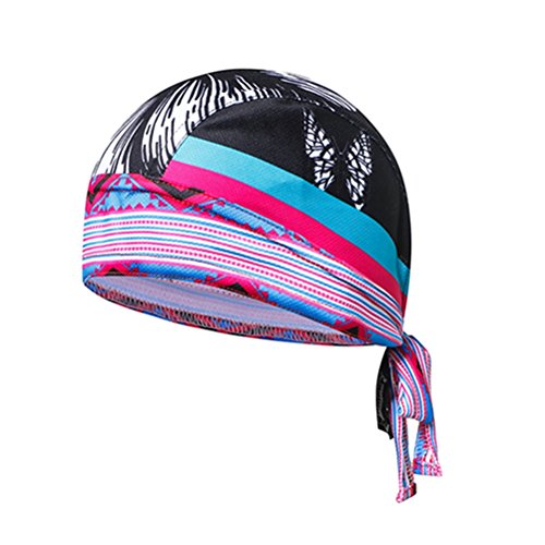 (Weimostar Cycling Caps for Women Sweat Proof Sunscreen Headwear Bike Team Scarf Bicycle Pirate Headband Riding Hood Sports Hat Black Butterfly)