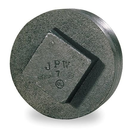 "4"" MNPT Black Malleable Iron Square Head Plug"