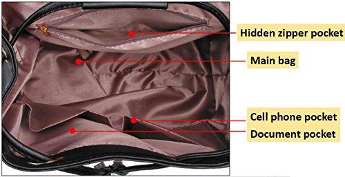 Tibes Small Daypack mochila impermeable casual para las mujeres / niñas Negro 2