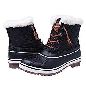 Women's GLOBALWIN 1632 BLACK GREY Snow Boots