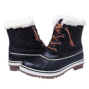 Women's GLOBALWIN 1632 BLACK GREY Snow Boots