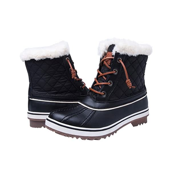 Image result for Global Win Globalwin Women's 1632 Black Grey Snow Boots