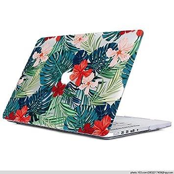 L2W Funda Dura Apple MacBook Air 13,3 Pulgadas 2018 Modelo A1932 con Touch ID Portátiles Accesorios Plástico Imprimir Hojas de Palma Tropical Rígida ...