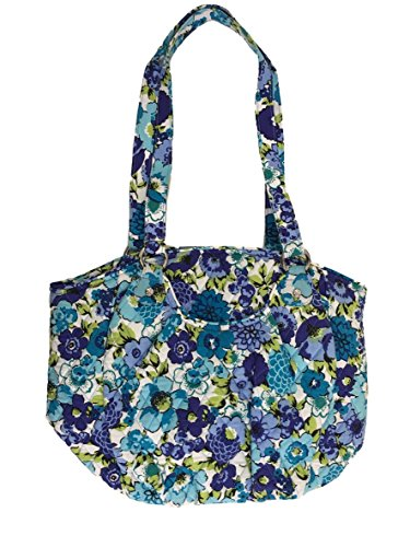Vera Bradley Glenna Shoulder Bag, Signature Cotton (Blueberry Blooms)