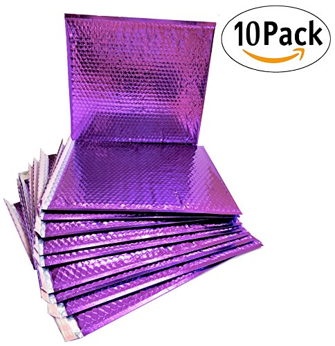20 Pack Metallic Bubble Mailers 7 x 6.75. Purple Padded Envelopes 7 x 6 3/4. Glamour Bubble Mailers Peel and Seal. Padded Mailing Envelopes for Shipping, Packing, Packaging.