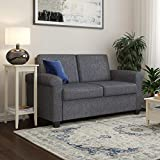 DHP Logan Twin Sleeper Sofa Couch Pull Out Bed, Grey Linen
