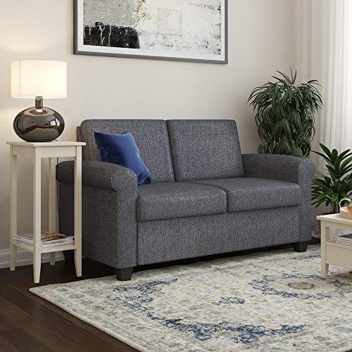 Twin Sleeper Sofa - DHP Logan Twin Sleeper Sofa Couch Pull Out Bed, Grey Linen