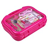 Pink Medical Kit Set Cosplay Doctor Nurse Role Play Toy Great For Parent-child Interaction, Playing With Friends, Kindergarten Tools