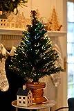 Celebrations 36-Inch LED Fiber Optic Prelit Artificial Christmas Tree in Gold Base