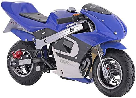 GBmoto ガスポケットバイク 40cc 4ストローク ブルー