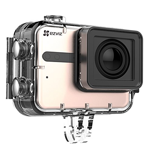 5145auqs1fL EZVIZ 5 PLUS Ultra HD 4K Video Wifi Sports Action Camera with Waterproof Touchscreen Case, Gold