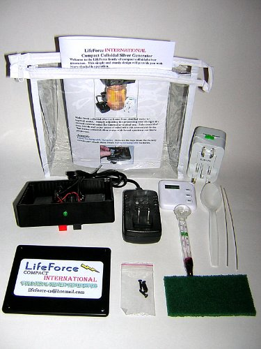 - Compact International Colloidal Silver Generator Package by LifeForce Devices