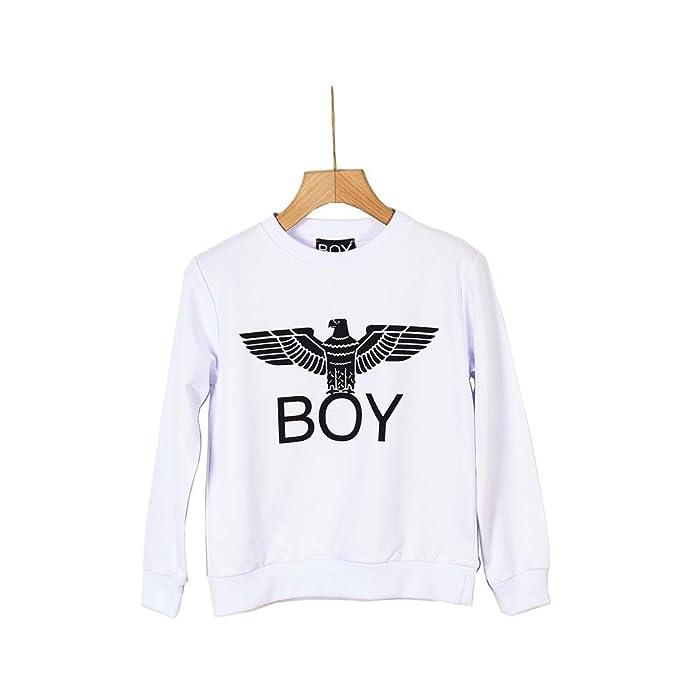 foto ufficiali 27b59 c97d4 Boy London, Felpa,GFBL024,100, bianca: Amazon.it: Abbigliamento