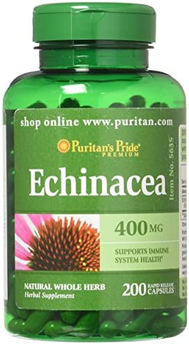 Echinacea 400 mg for Immune Health by Puritan s Pride to Support Immune System 200 Capsules