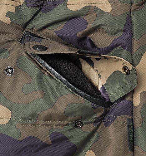 Une En Avec D'hiver Fausse Couleurs Camouflage 7 Pour Noire Nirvana Dame Navahoo Xs xxl Capuche Veste Fourrure XqY4n8