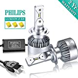 iBrightstar H7 LED Headlight Bulbs Conversion Kit - Philips ZES 8,000lm 6000K Cool White - 2 Yr Warranty