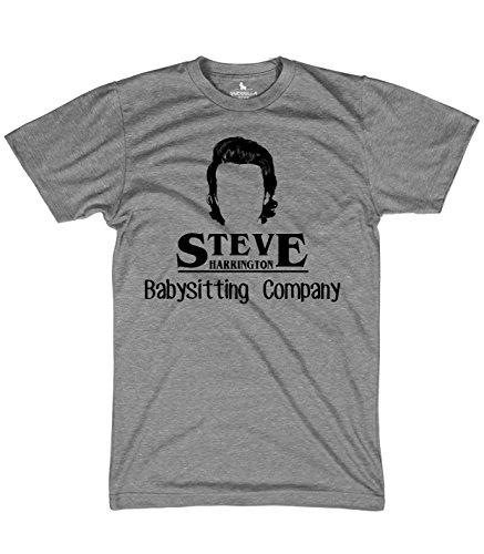 Guerrilla Tees Steve Harrington's Baby Sitting Company Shirt Funny Tshirts, 3X-Large -