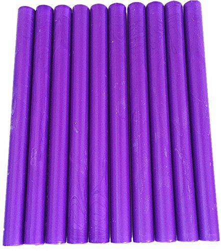 XICHEN10PCS Vintage Sealing Glue Gun Sealing Wax Wax Sticks Wax covid 19 (Purple Glue Gun coronavirus)