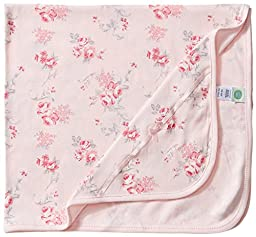 Little Me Baby Girls\' Scroll Rose Blanket, Pink Floral, One Size