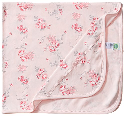 Little Me Baby Girls' Scroll Rose Blanket, Pink