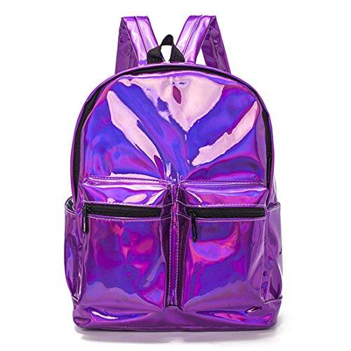 Laser Holographic Bags Purple Bag for School Gold XA1076H Women Bag Silver Girls Hologram Backpack Leather Mochila Teenage Travel BztfOxqxw