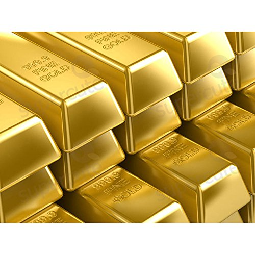 Xshelley 1kg Shiny Fake Gold Bar Bullion Brick Door Stop/Paperweight CAS by Xshelley SH