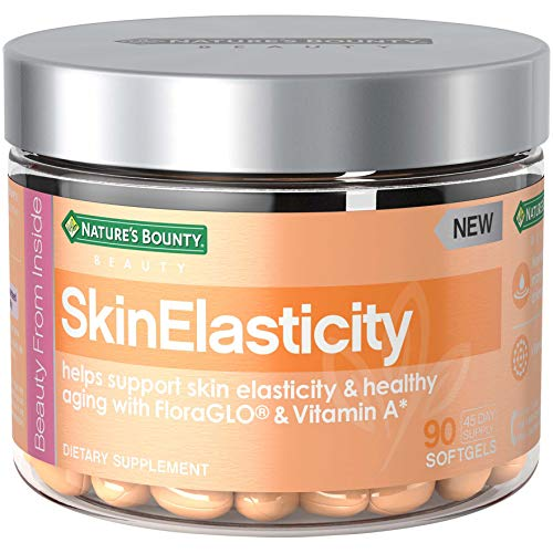 Nature's Bounty SkinElasticity Dietary Supplement with Vitamin A + FloraGLO, Helps Support Skin Elasticity and Health Aging*, 90 Softgels