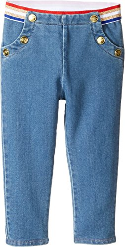 Price comparison product image Little Marc Jacobs Baby Girl's Denim Effect Trousers (Infant) Stone Jeans