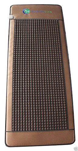 HealthyLine Far Infrared Heating Mat - For Pain Relief, Stress & Insomnia 76'' x 32'' | Natural Tourmaline Stone | Negative Ions (XL & Firm) | FDA Registered by HealthyLine (Image #1)'