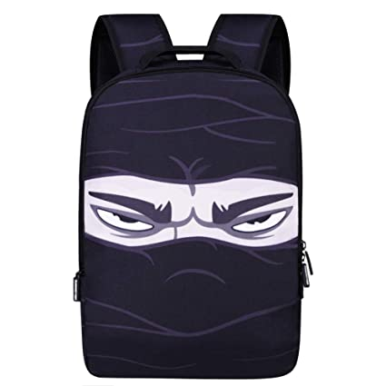 Backpack School Bag Book Bag for Boys Girls (Ninja)