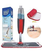 Fixget Spray Mop Mocio, Microfibra Spray Mop con Spruzzatore d'Acqua, Spray Polverizzatore con 2 Cuscinetti Mops in Fibra Multi-Free Gratuiti, con Bottiglia Riutilizzabile