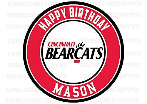 EdibleInkArt Cincinnati Bearcats Edible Cake Topper Personalized Birthday 6