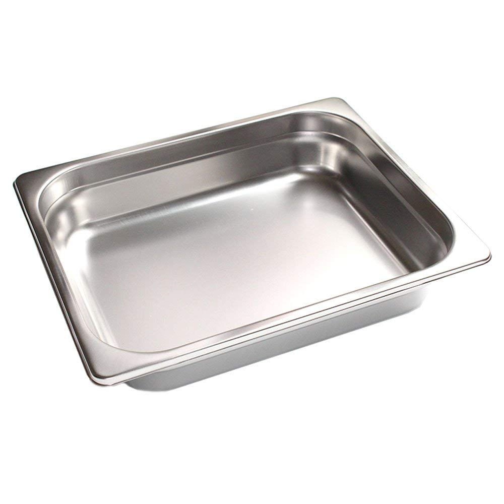FutureSprout 4'' Half-Size Anti-Jam Steam Table Pan for Cooking, Storage, for Restaurant, Cafeteria, Dining Hall, Catering Business, foodservice Establishment Hotels Buffet