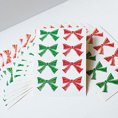 50 bolsas de regalo con diseño de Navidad, Papá Noel, hechas de celofán y 50 pegatinas de lazo Santa: Amazon.es: Hogar