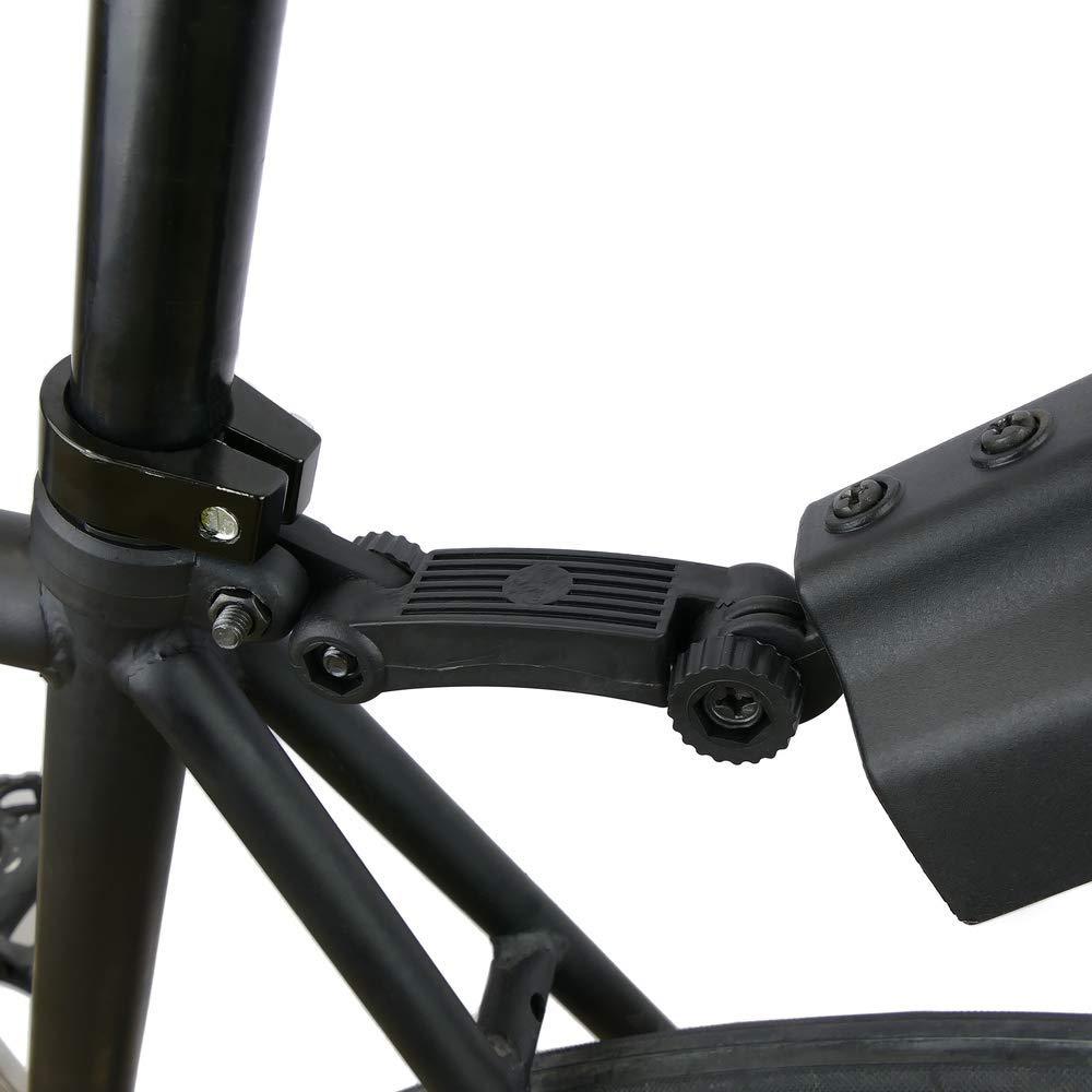 PrimeMatik Guardabarros Delantero y Trasero para Bicicleta Bici de monta/ña MTB de Color Azul