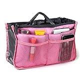 Z-COMFORT Women Travel Insert Handbag Organizer, Purse Organizer Tidy Bag - 2 Pack, Light Pink, 2 Count