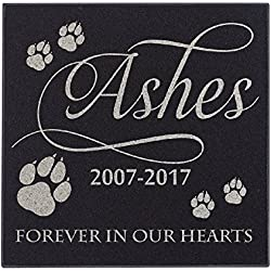 Cat Paws Forever In Our Hearts Cat Memorial Personalized Grave Stone For Cat | Granite