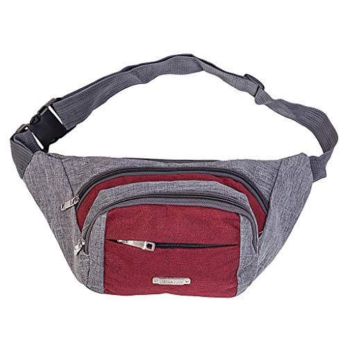 Lovygaga Men's and Women's Simple Leisure Fashion Oxford Sport Fitness Waist Packs
