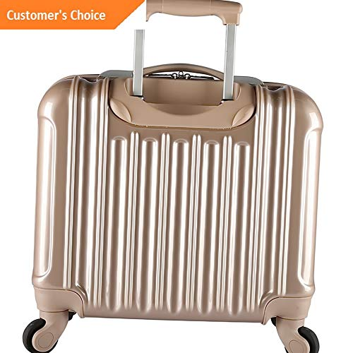 "Amazon.com | Sandover Alma 16"" Light Metallic Rolling Laptop Wheeled Business Case NEW 