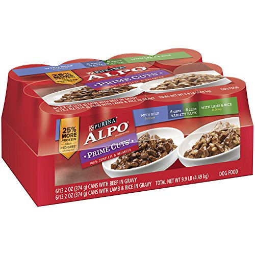 *Purina ALPO Price Cuts with Beef and Lamb & Rice Variety Pack Wet Dog Food, 13.2 Oz, Case of 12