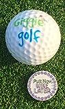 Giggle Golf Bling Putt Now, Wine Later Golf Ball