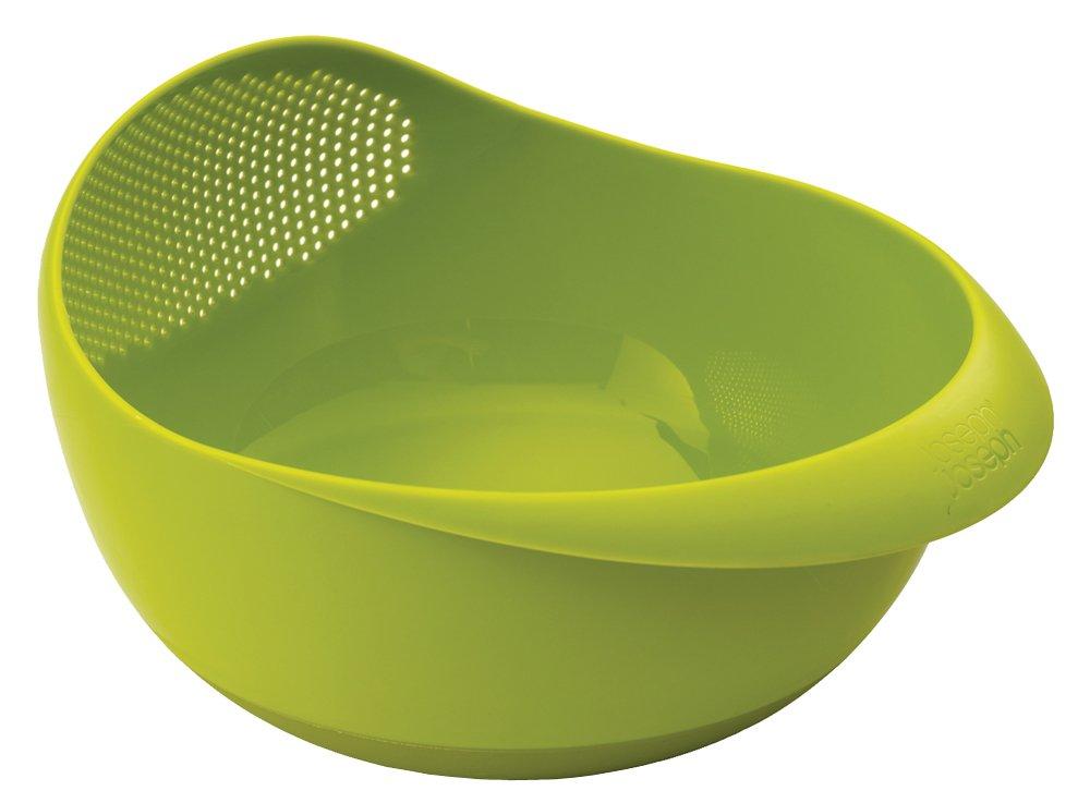 Joseph Joseph 40063 Prep & Serve Multi-Function Bowl with Integrated Colander, Large, Green