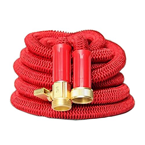 ALASKA2YOU Platinum Garden Hose | Flexible Expandable Retractable Non-Kink Water Hose | Best In Class Reinforced USA Sized Solid Brass Connectors | 50 ft
